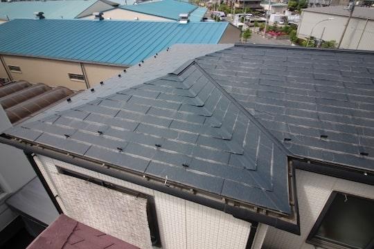 痛んだ屋根の画像
